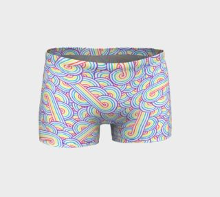 Aperçu de Rainbow and white swirls doodles Shorts