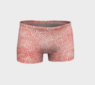 Peach echo and white swirls doodles Shorts preview