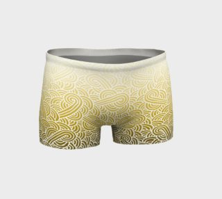 Ombre yellow and white swirls doodles Shorts preview
