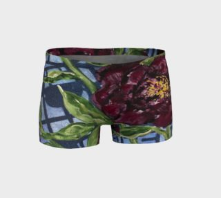 Bold Burgundy Garden Peonies Shorts preview