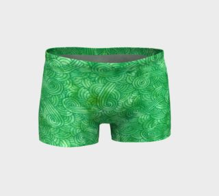 Green swirls doodles Shorts preview