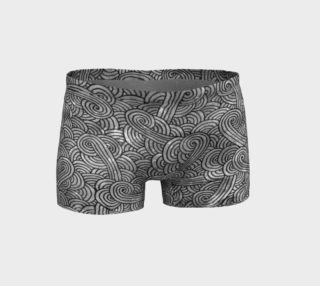 Aperçu de Grey and black swirls doodles Shorts