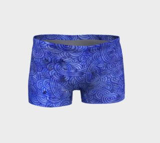 Royal blue swirls doodles Shorts preview