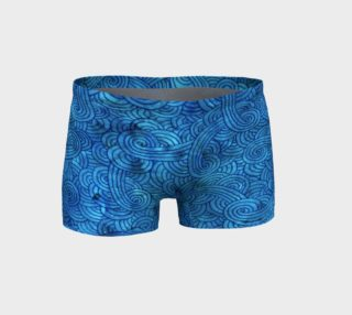 Turquoise blue swirls doodles Shorts preview
