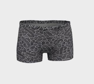 Aperçu de Faux silver and black swirls doodles Shorts