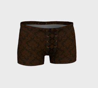 Brown Damask Tied Shorts preview