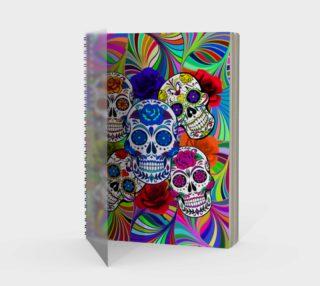 Sugar Skulls Circular Colorful Geometric Abstract Spiral Notebook preview