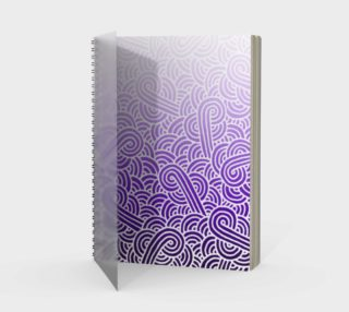 Ombré purple and white swirls doodles Spiral Notebook preview