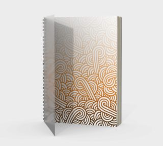 Gradient orange and white swirls doodles Spiral Notebook preview