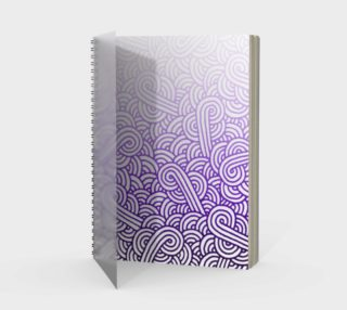 Gradient purple and white swirls doodles Spiral Notebook preview