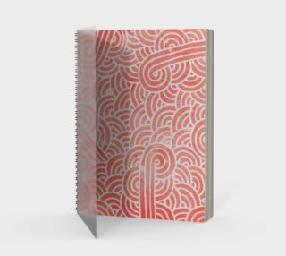 Peach echo and white swirls doodles Spiral Notebook preview