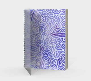 Lavender and white swirls doodles Spiral Notebooks preview