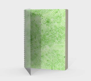 Greenery and white swirls doodles Spiral Notebook preview