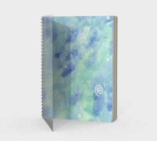 Blue lagoon watercolor Spiral Notebook aperçu
