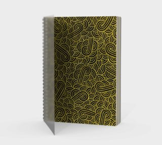 Faux gold and black swirls doodles Spiral Notebook preview