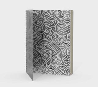 Grey and white swirls doodles Spiral Notebook preview