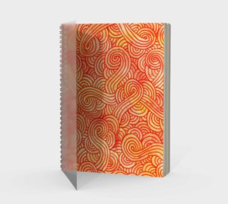 Orange and red swirls doodles Spiral Notebook preview