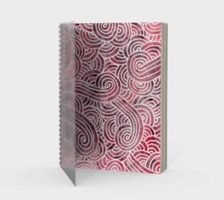 Red and white swirls doodles Spiral Notebook preview