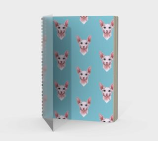 Sphynx cats pattern Spiral Notebook preview