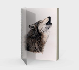 Grey wolf Spiral Notebook preview