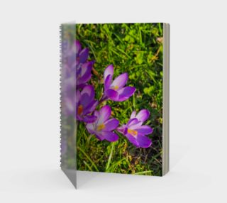 Purple Spring Crocus Spiral Notebook aperçu