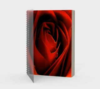 Love Red Rose Spiral-bound Portrite Notebook preview