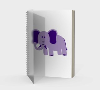 Purple Elephant Spiral Notebook preview