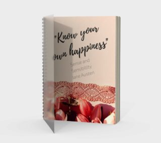 Sense and Sensibility Quote Notebook preview
