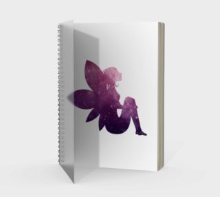 Purple Fairy Spiral Notebook preview