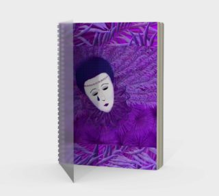 Purple Festival Sad Clown Mask Spiral Notebook preview