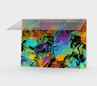 Colorful Vibrant Hip Summer Paint Splatter Pattern preview