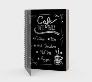 Cafe Menu Spiral Notebook preview