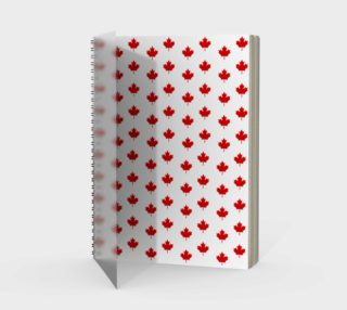 Red Maple Leaf Pattern from Flag of Canada Spiral Notebook preview
