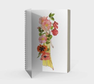 Sweet Pea Spiral Notebook preview