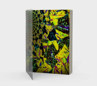 Yellow Flower Fractal and Kaleidoscope Art Spiral Notebook preview