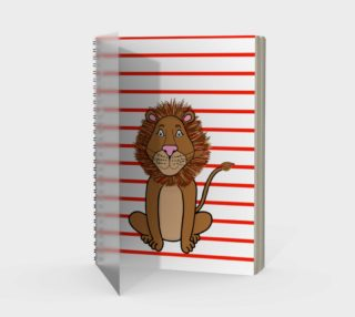 Leo the Lion Spiral Notebook preview