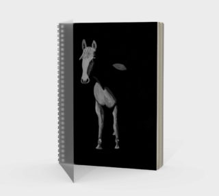 Black and white horse painting spiral notebook preview