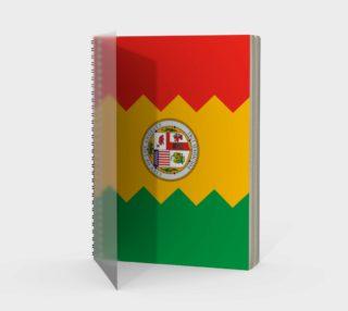 LA Flag Spiral Notebook preview