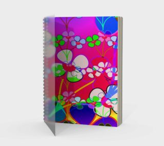 Abstract Colorful Flower Pink Background Art Spiral Notebook  preview