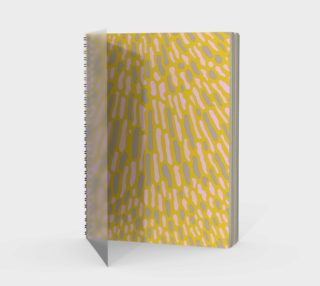 Organic Abstract Yellow Lime Spiral Notebook preview