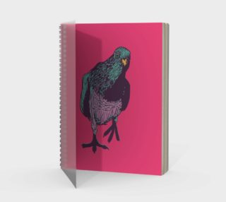 Spiral Notebook - Curious Pigeon in Bright preview