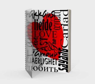 Aperçu de Love in Multiple Languages Spiral Notebook 160420