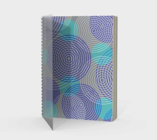 krugovi (gray) spiral notebook preview