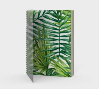 Luxury notebook, green palms vintage 3d aperçu