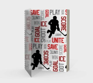 For the Love of Hockey - Red Spiral Notebook preview