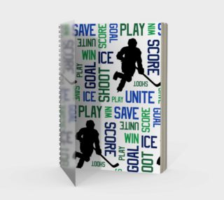 For the Love of Hockey - Blue and Green Spiral Notebook preview