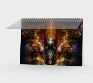 Riddian Queen Of Cosmic Fire Spiral Notebook preview