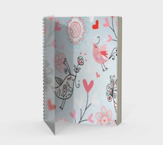 cute lovebirds notebook preview
