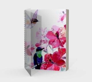 cute love birds spiral notebook preview