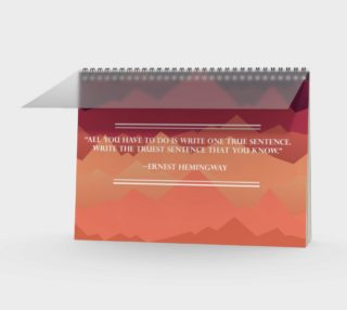 Hemingway Quote Spiral Bound Notebook preview